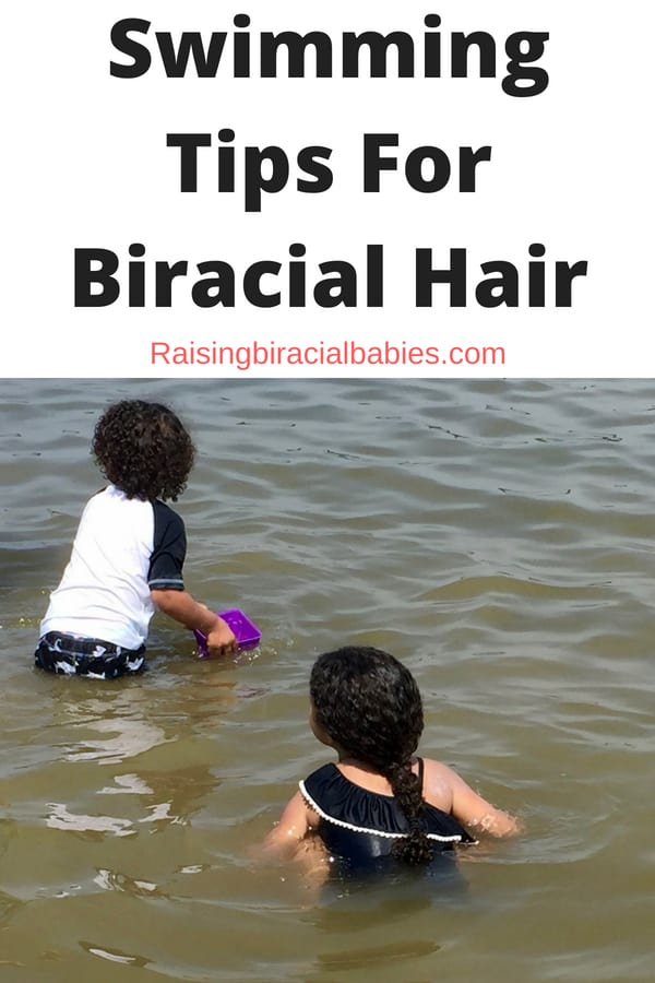 protect biracial hair while swimming | tips for biracial hair | mixed hair care | curly biracial hair |
