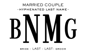 Married Couple - Hyphenated