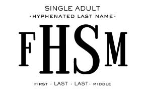 Single Adult - Hyphenated