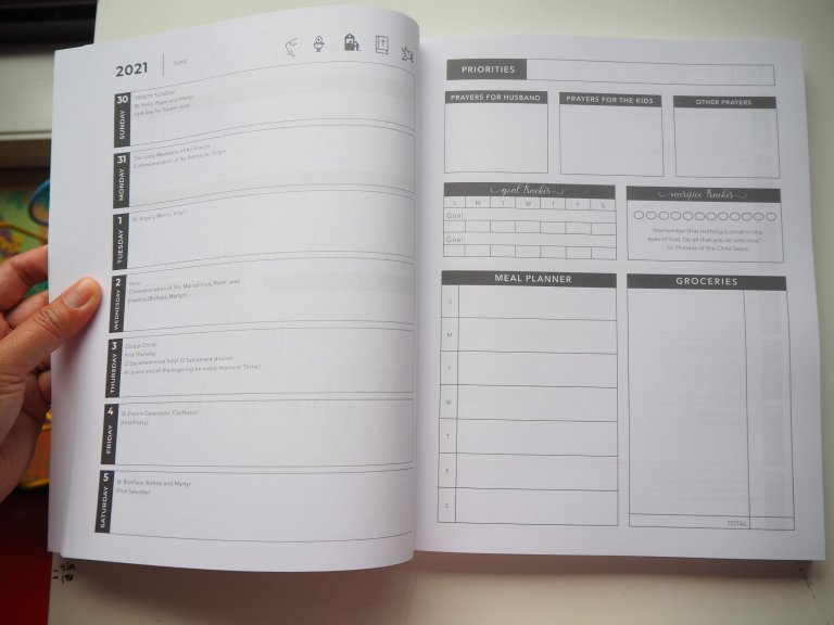 2021 2022 traditional catholic planner weekly