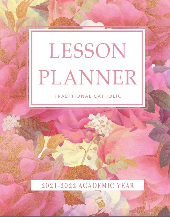 traditional catholic homeschooling planner