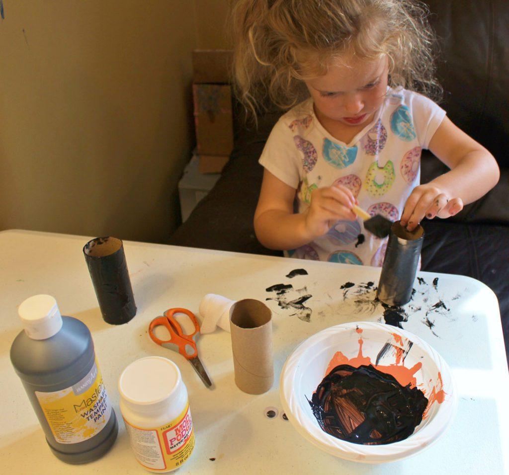 Mummy Halloween Craft
