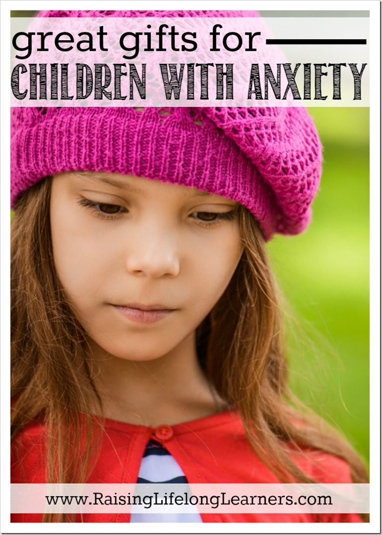 Do you have children with anxiety? I do, and like to plan gift-giving to support each of their needs and wants. Here are some things that have worked... #Anxiety #parenting #giftguide