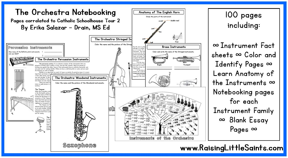 Instruments Of The Orchestra Notebooking Pages Raising Teaching Little Saints