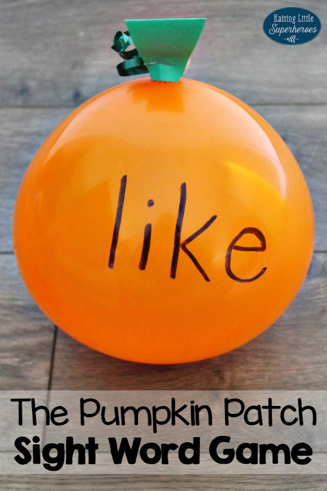 How To Play The Pumpkin Patch Sight Word Game For Kids