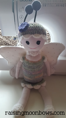 making a butterfly doll - Finished