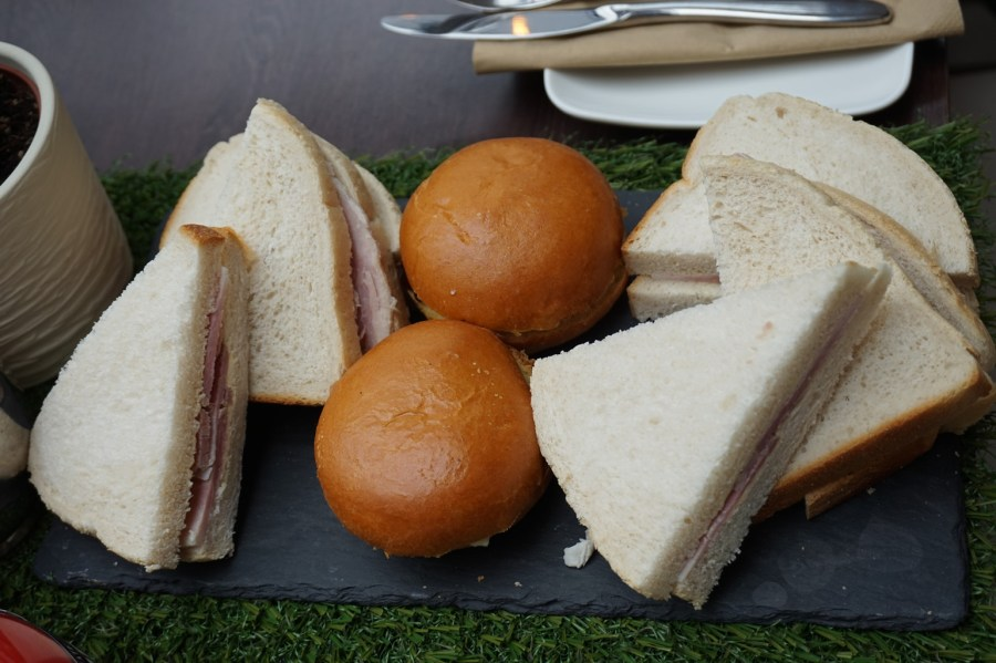 Yorkshire afternoon tea at the doubletree by hilton - sandwiches for the kids