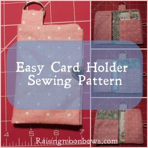 Easy Card Holder Sewing Pattern
