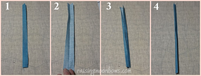 How to make the trim for the laptop sleeve steps