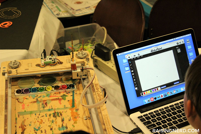 Robopaint RT in Action at the Virginia Tech Makers Faire