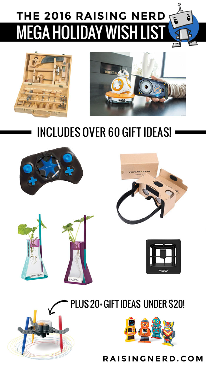 Raising Nerd MEGA Holiday Gift Guide: Over 60 AWESOME ideas for nerds of all ages!