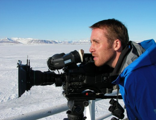 Philippe Cousteau shooting for his next documentary