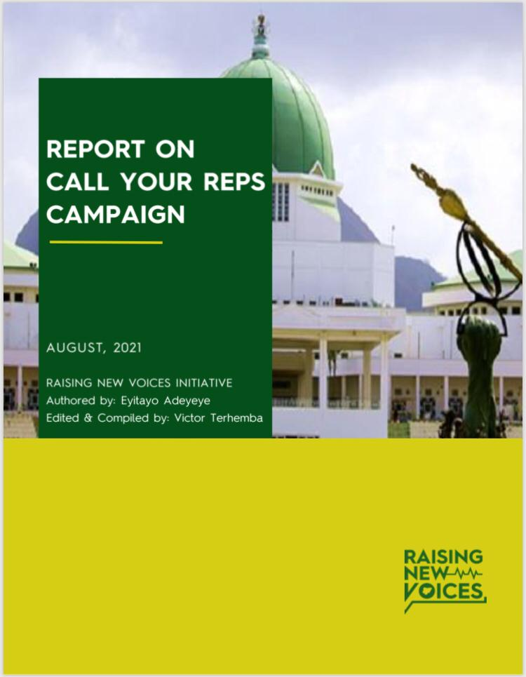 Report on Call Your Reps Campaign for Electoral Reform and Electronic Transmission of results