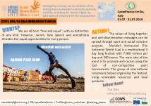 Mondiali Antirazzisti, Raising Peace Camp by YAP Italy