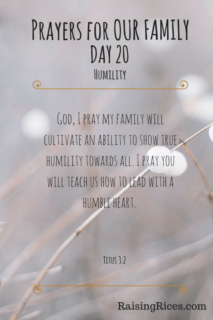 Prayers for OUR FAMILY - DAY 20