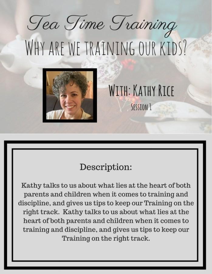 Tea Time Training description session 1