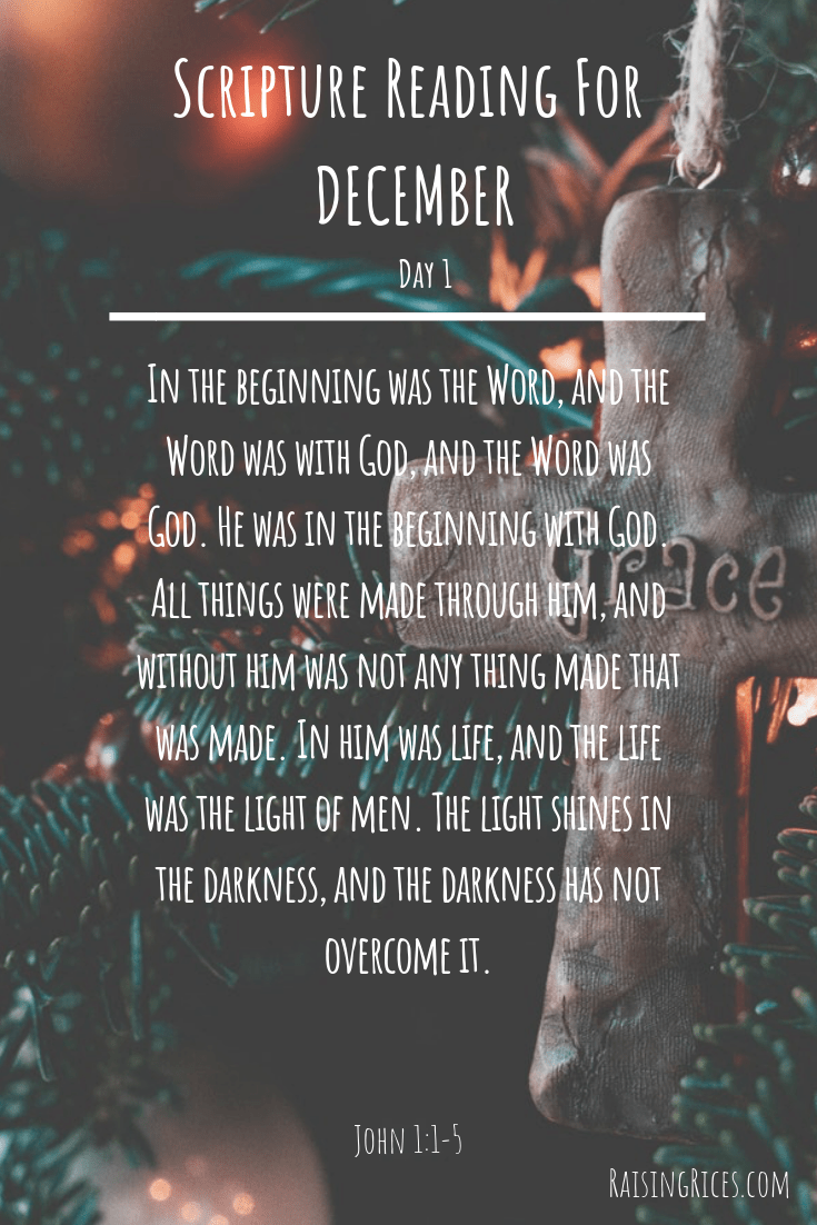 Scripture Reading For DECEMBER 1