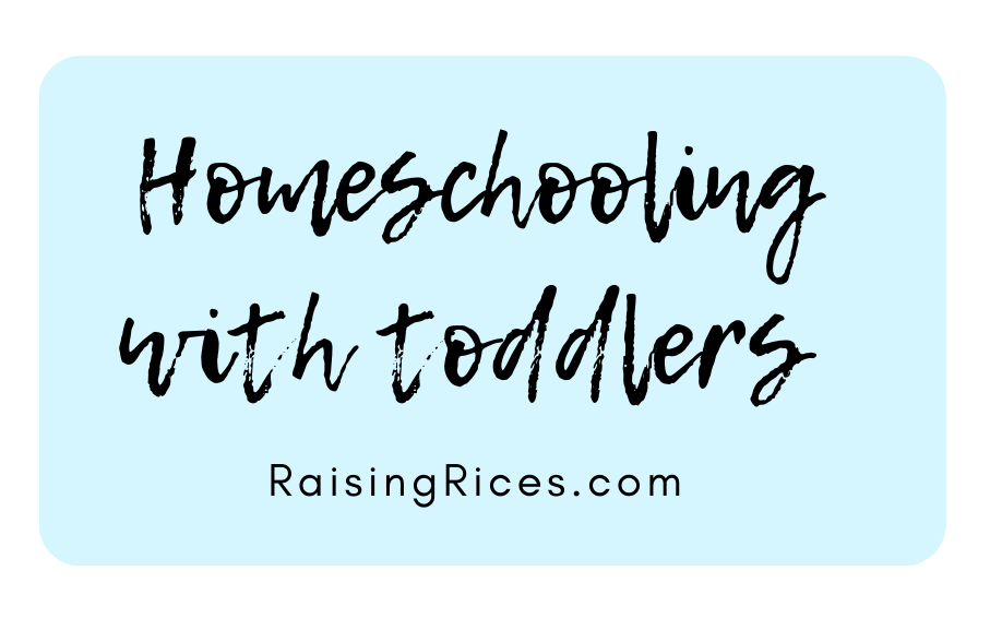 Homeschooling with Toddlers