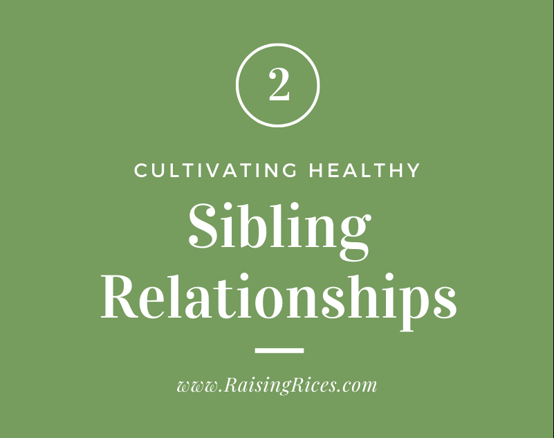 Cultivating Healthy Sibling Relationships – Part 2