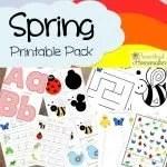 Preschool Spring Printable Pack from Proverbial Homemaker