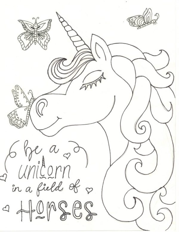 free unicorn coloring pages # 72
