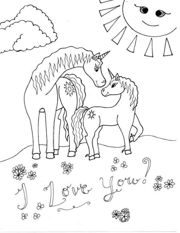 free unicorn coloring pages # 40