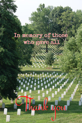 This Memorial Day, we thank all of those who gave everything they had.