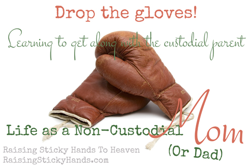Life as a non-custodial mom - Learning to get along with the custodial parent - Raising Sticky Hands To Heaven - photo credit Jean Scheijen