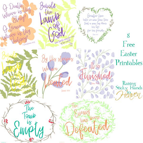 8 Free Easter Printables