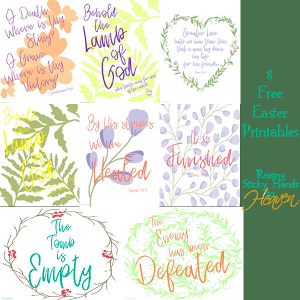 8 Free Easter Printables