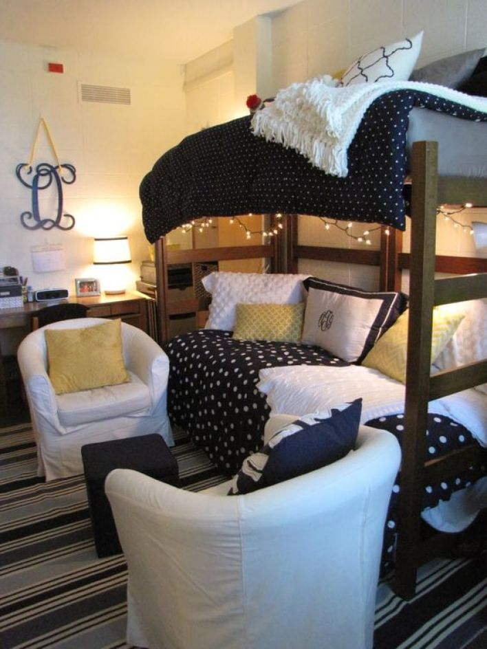 Dorm Room Headboards: 25 Cool Dorm Rooms That Will Get You Totally Psyched For