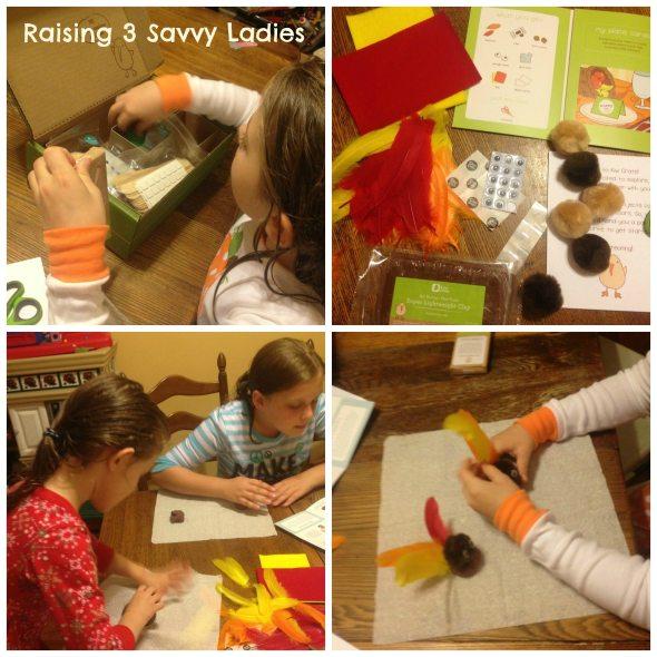 kiwicrate Thanksgiving Raising 3 Savvy Ladies