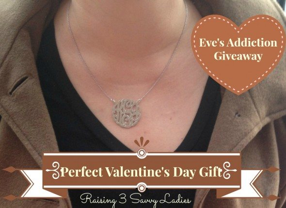 a Silver Monogram Necklace Giveaway