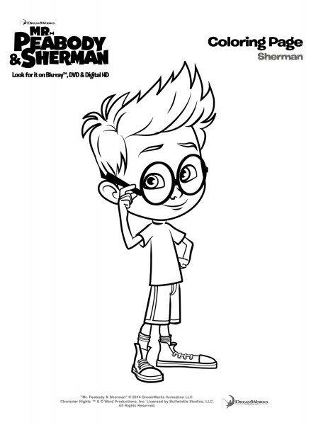 Sherman-coloringpage 2