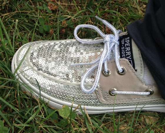 Silver Sequin Sperry TopSider
