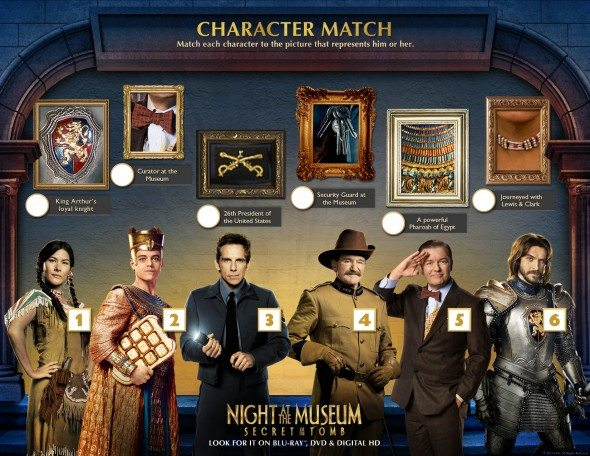 Night at the Museum CharacterMatch