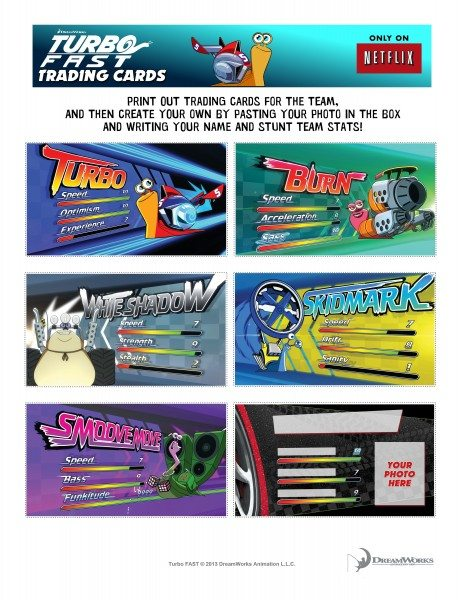 FAST Trading Cards w lines