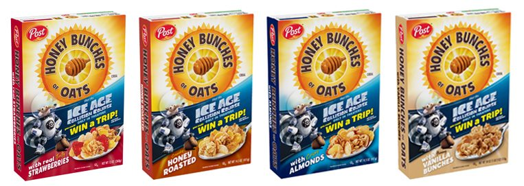 Honey Bunches of Oats Ice Age Boxes