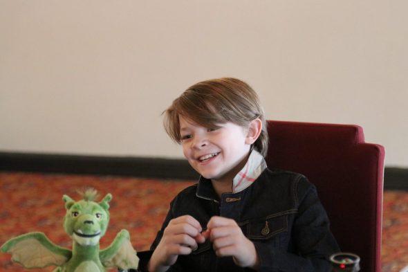 Petes Dragon Oakes Fegley Inteview Smile