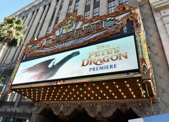 """HOLLYWOOD, CA - AUGUST 08: A view of the atmosphere at the world premiere of Disney's """"PETE'S DRAGON"""" at the El Capitan Theater in Hollywood on August 8, 2016. The new film, which stars Bryce Dallas Howard, Robert Redford, Oakes Fegley, Oona Laurence, Wes Bentley and Karl Urban and is written and directed by David Lowery, has been drawing rave reviews from both audiences and critics. PETE'S DRAGON opens nationwide August 12, 2016. (Photo by Alberto E. Rodriguez/Getty Images for Disney )"""