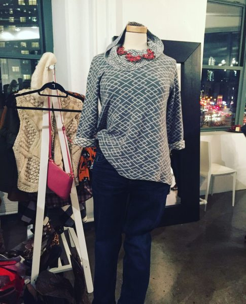 Loose turtle neck top on mannequin