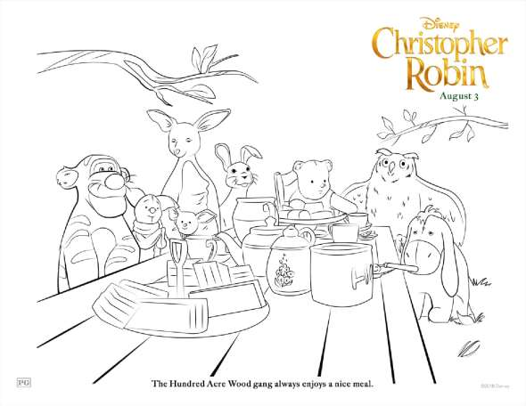 Christopher Robin Winnie the Pooh Activity Sheets