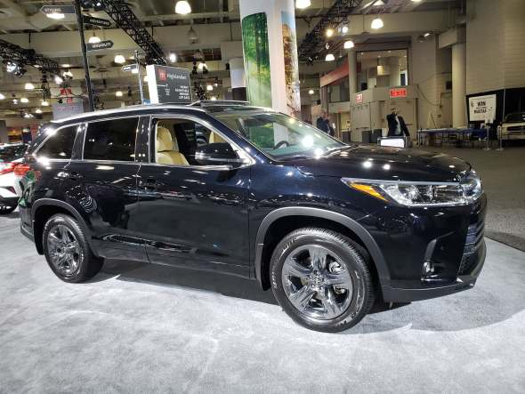 Toyota Highlander at the New York International Auto Show.