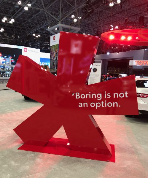 Asterisk installation at the New York International Auto Show.