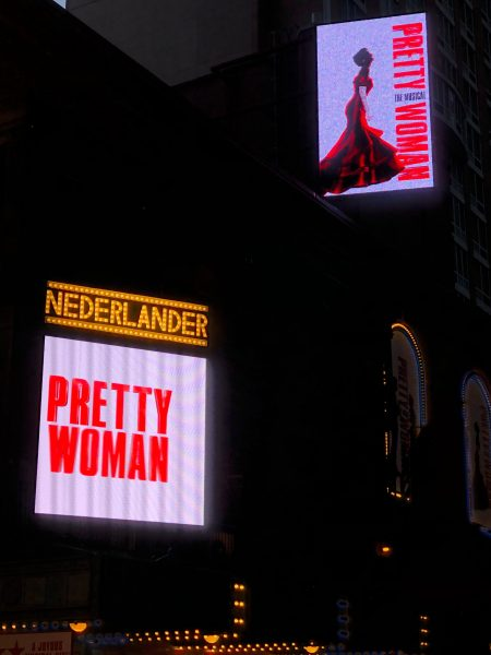 Marquee sign for Pretty Woman the Musical.