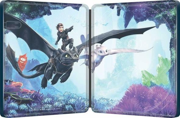 How to Train Your Dragon: The Hidden World Steelbook interior.