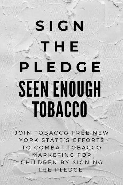 Sign the pledge against big tobacco image.