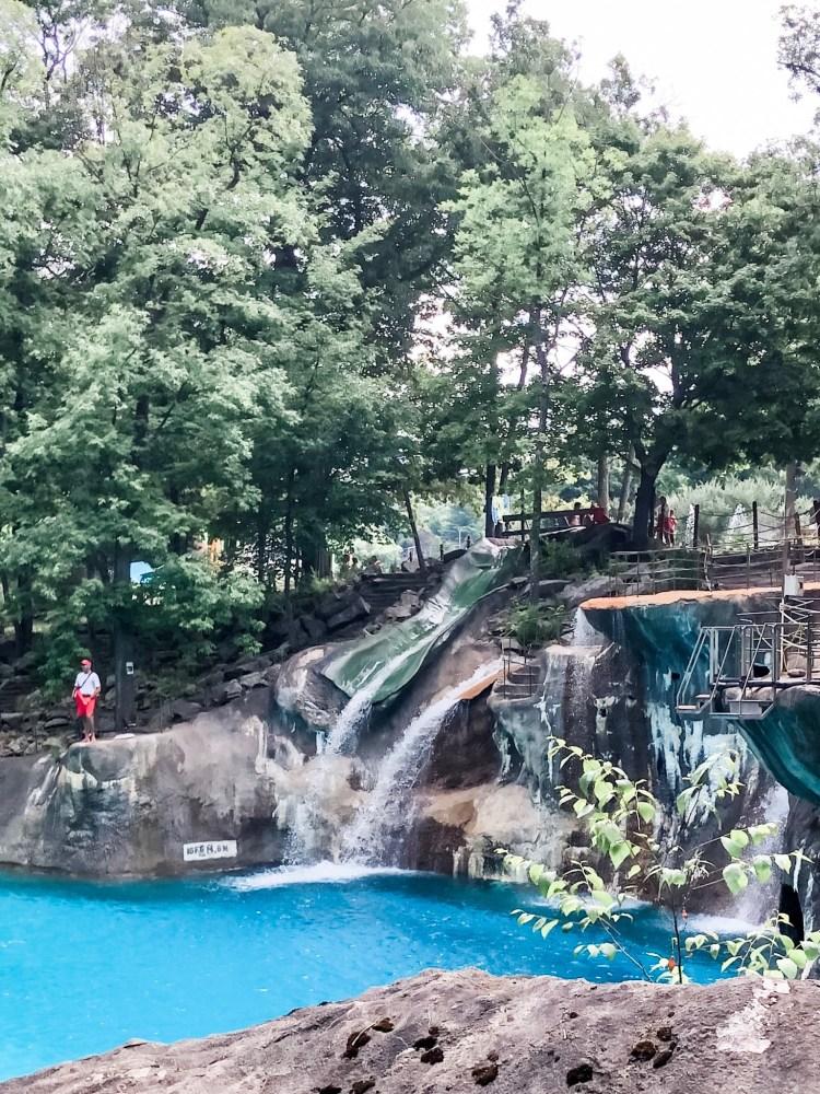 Mountain water slide at Mountain Creek Waterpark.