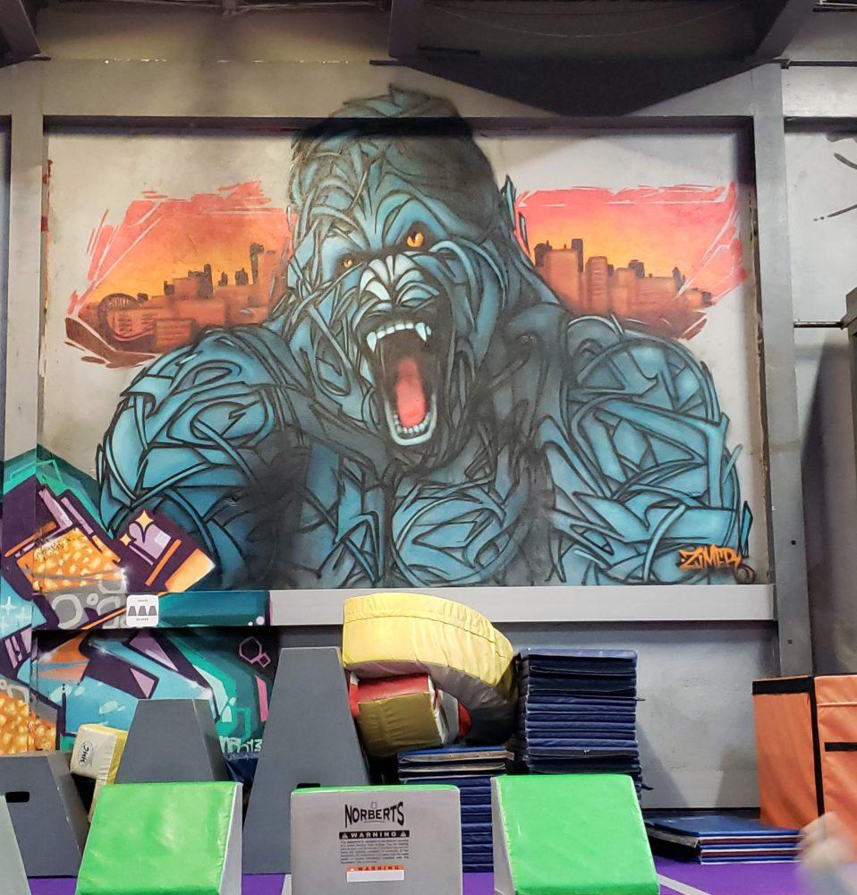 Brooklyn Zoo - King Kong image on wall