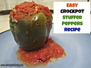 Easy Crockpot Stuffed Peppers Recipe